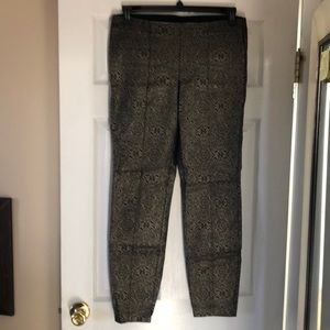 Legging with gold brocade
